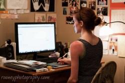 color photography, color portrait, self-portrait, color self-portrait, indoor portrait